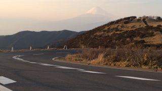 西伊豆スカイラインの夕陽の画像