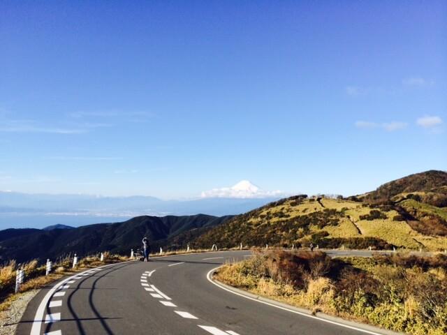 西伊豆スカイラインと富士山の画像