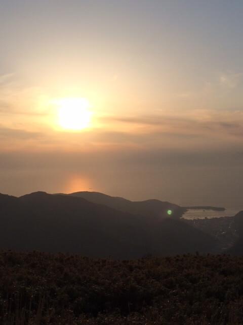 西伊豆スカイラインからの夕陽