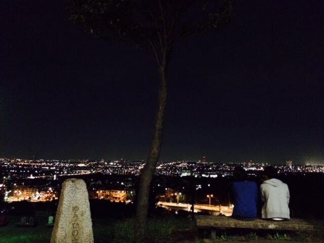 夕日の丘の夜景