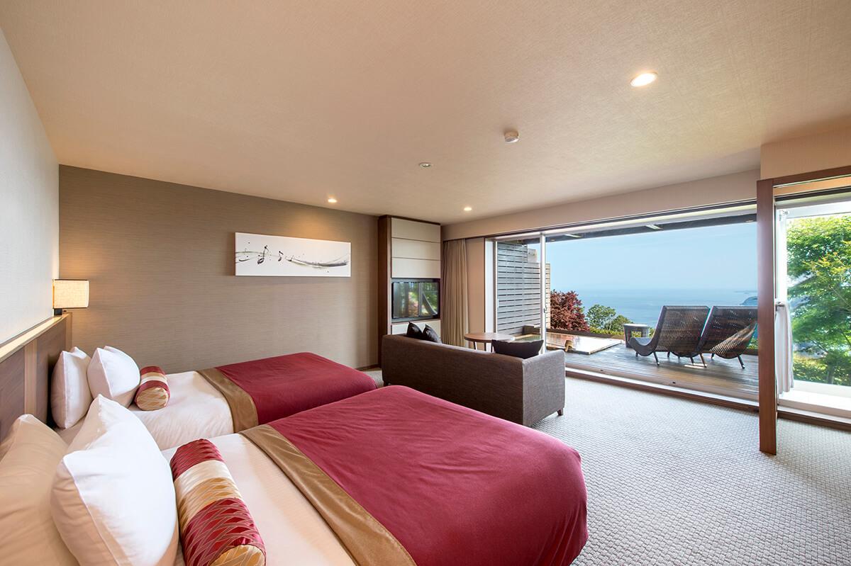 伊豆のおすすめ高級旅館 ホテルグランバッハ熱海の客室①