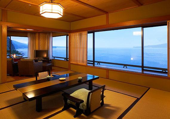 伊豆のおすすめ高級旅館 望水の客室