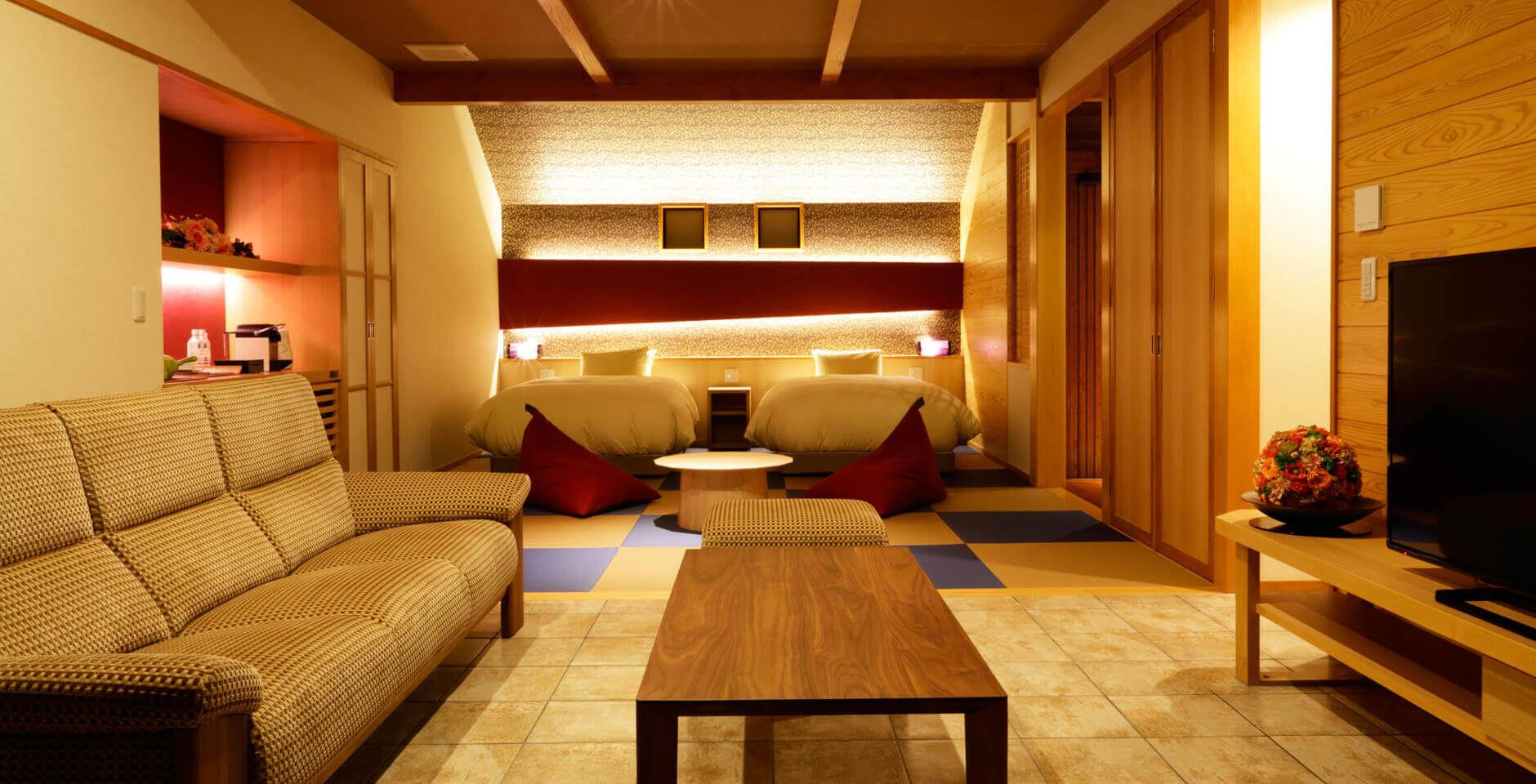 伊豆のおすすめ高級旅館 ふたりとわにの客室