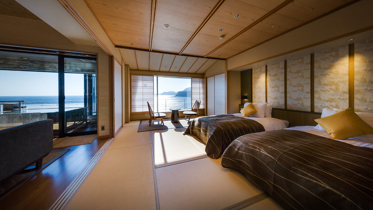 伊豆のおすすめ高級旅館 稲取銀水荘の客室画像