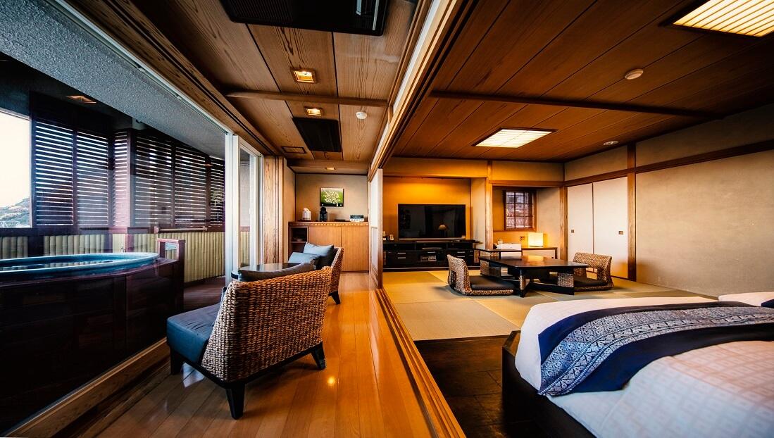 伊豆のおすすめ高級旅館 ホテル風の薫の客室