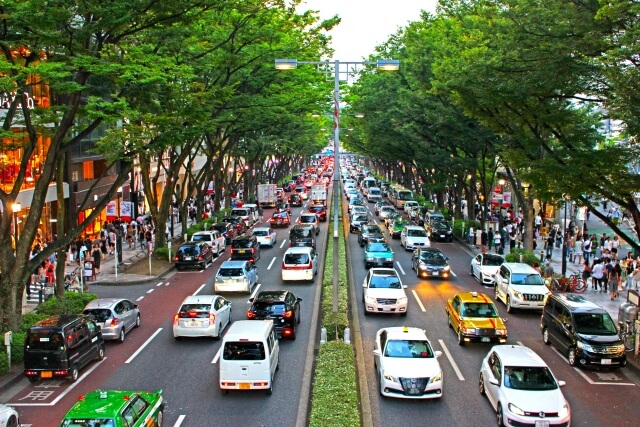 表参道の渋滞