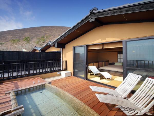 伊豆のおすすめ高級旅館 お宿うち山の客室露天風呂