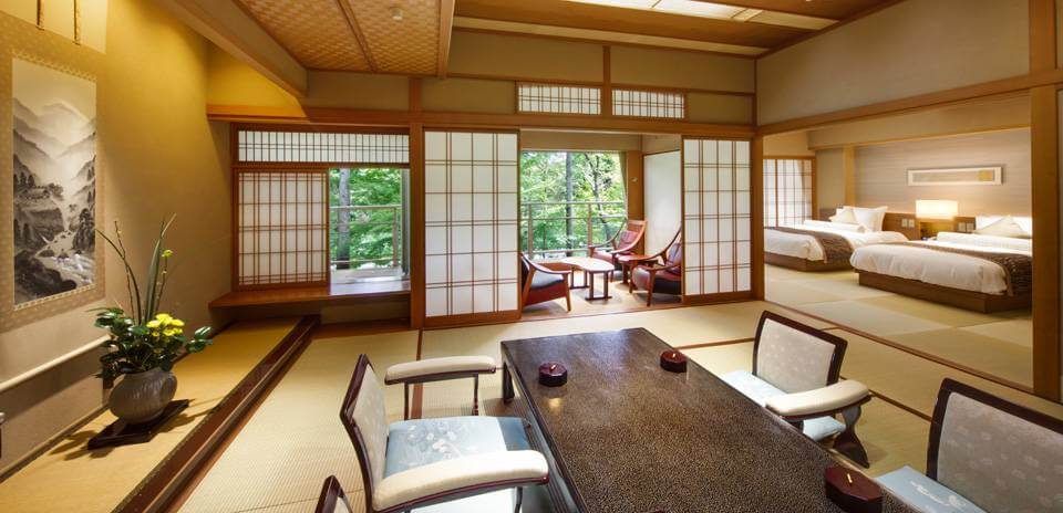 伊豆のおすすめ高級旅館 嵯峨沢館の客室