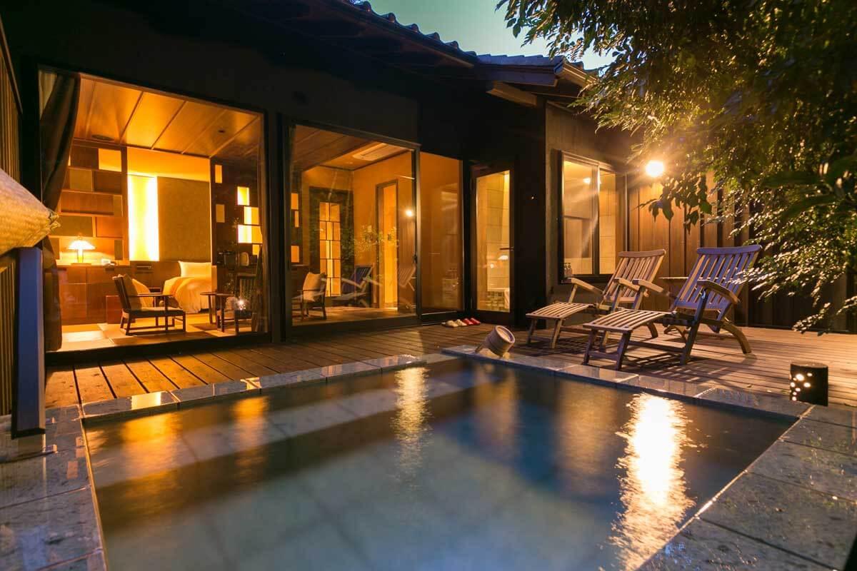 伊豆のおすすめ高級旅館 雲風々の客室露天風呂