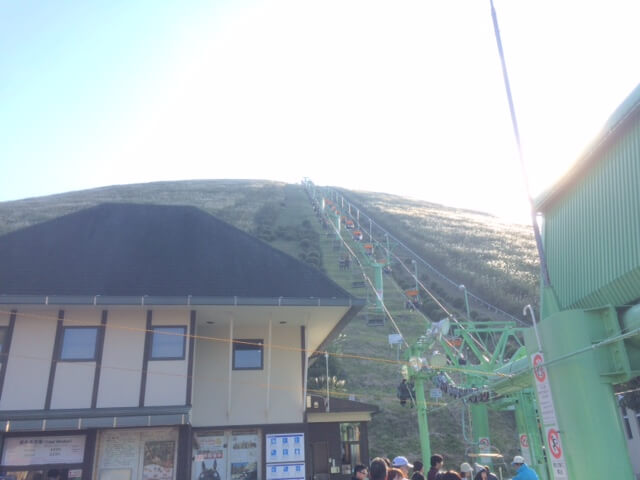 大室山のリフト