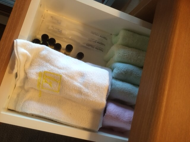 粋の脱衣所のタオル