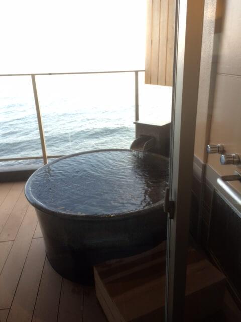 粋の客室露天風呂