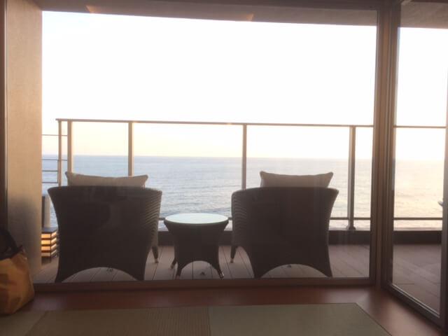 粋から見える海の景色