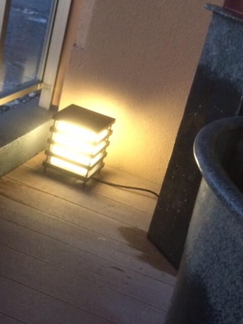 テラスの間接照明