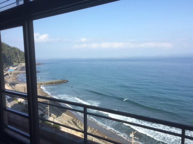 熱川館から北東方向の眺め