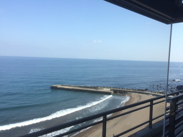熱川館から東南方向の眺め
