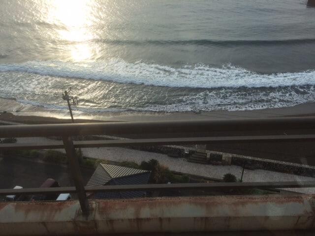 熱川館からの朝の景色