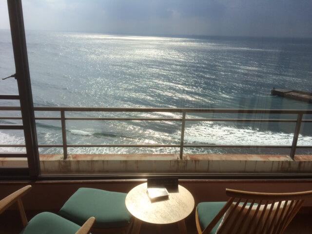 熱川館からの午前中の眺め