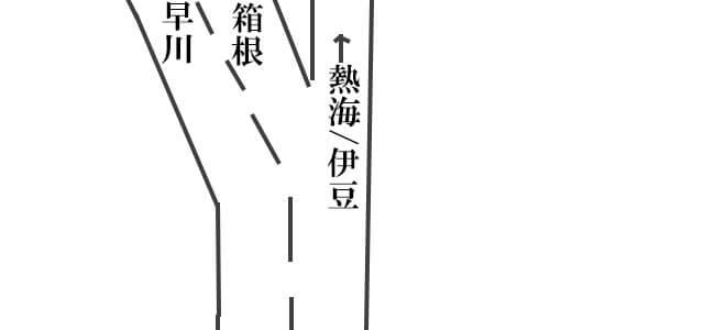 西湘バイパスの分岐