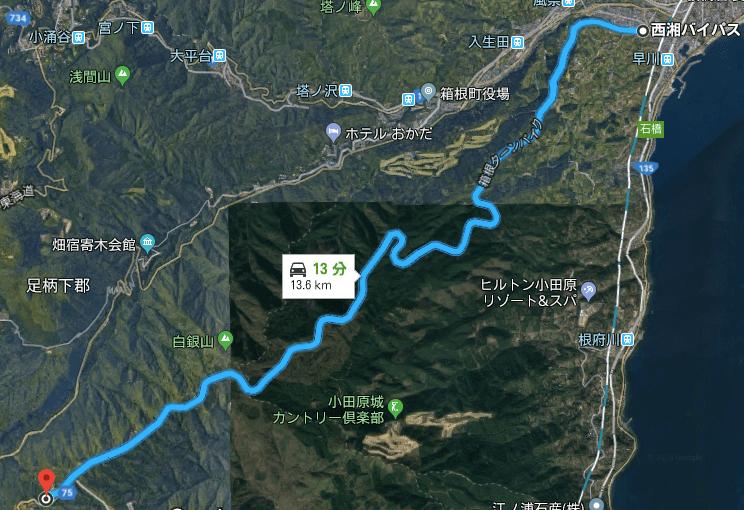 箱根ターンパイクルート