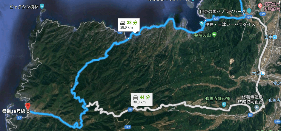 戸田へのルート