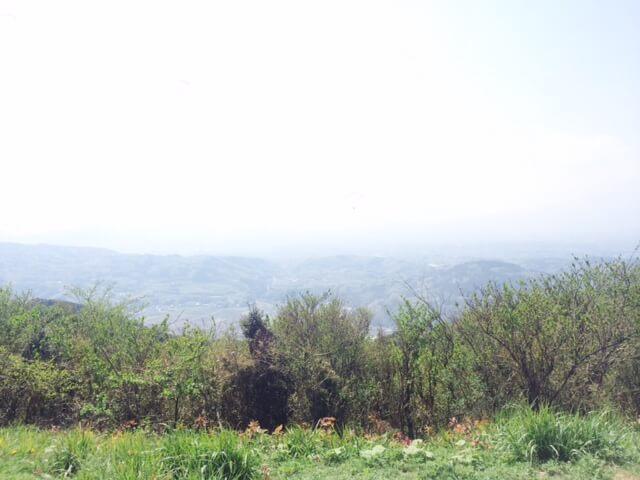 滝知山展望台の西方面