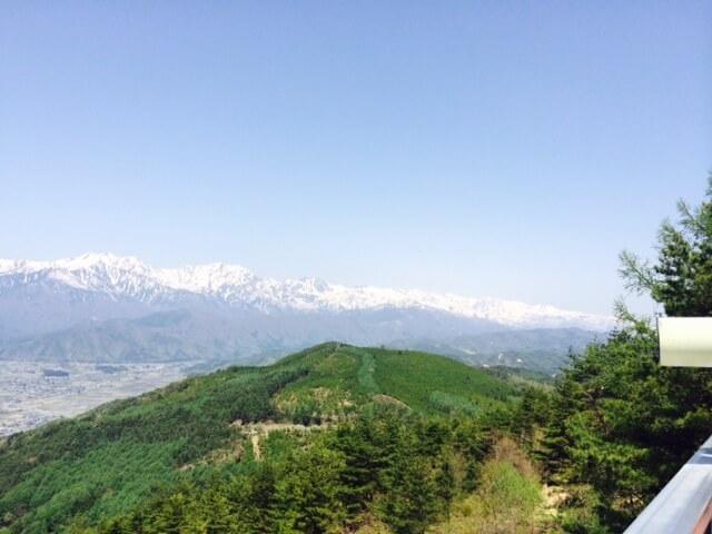北アルプスの白馬三山