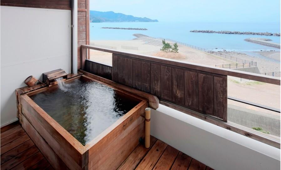 伊豆の部屋食 あるじ栖の客室露天風呂
