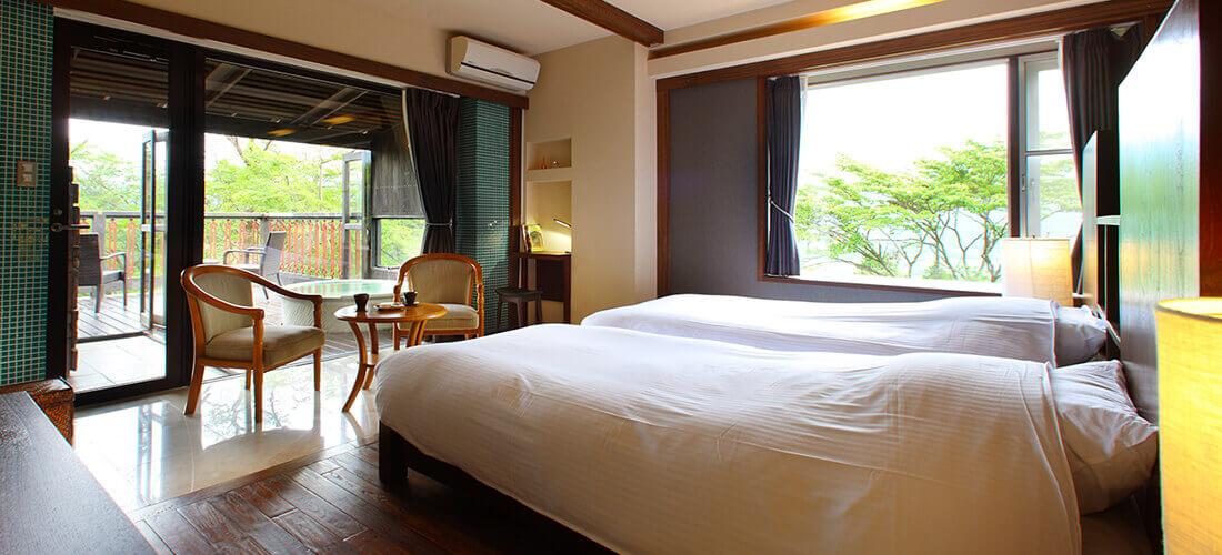 カップルで泊まりたい箱根の宿 オーベルジュフォンティーヌブロー仙石亭の客室