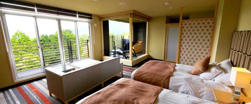 カップルで泊まりたい箱根の宿 箱根湯宿 然の客室