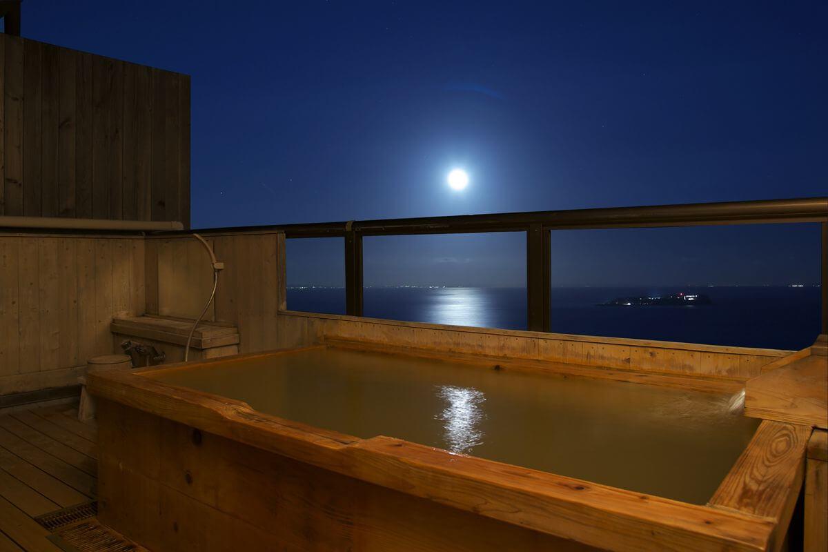 伊豆の部屋食の宿 竹林庵 みずのの客室露天風呂