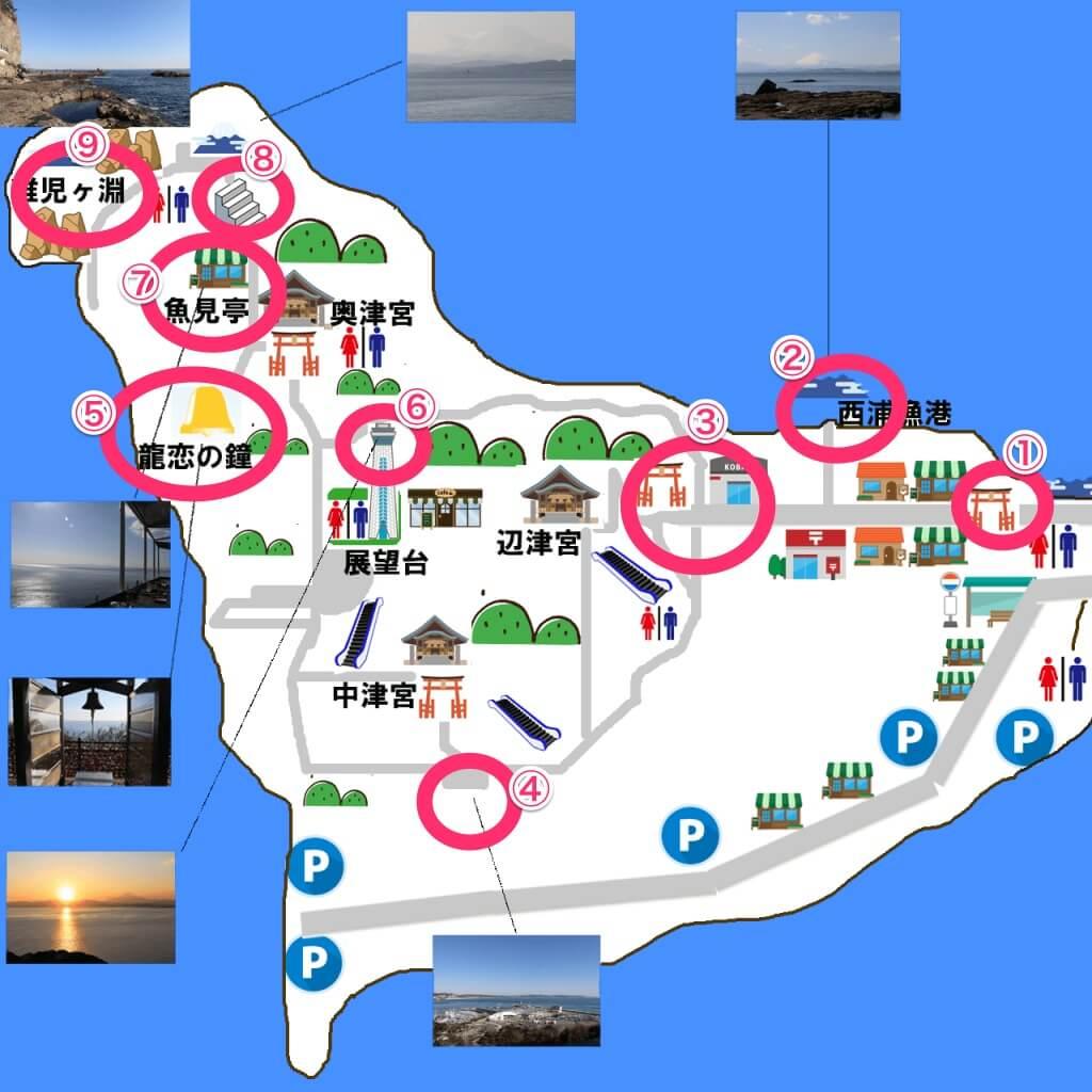 江ノ島インスタマップ