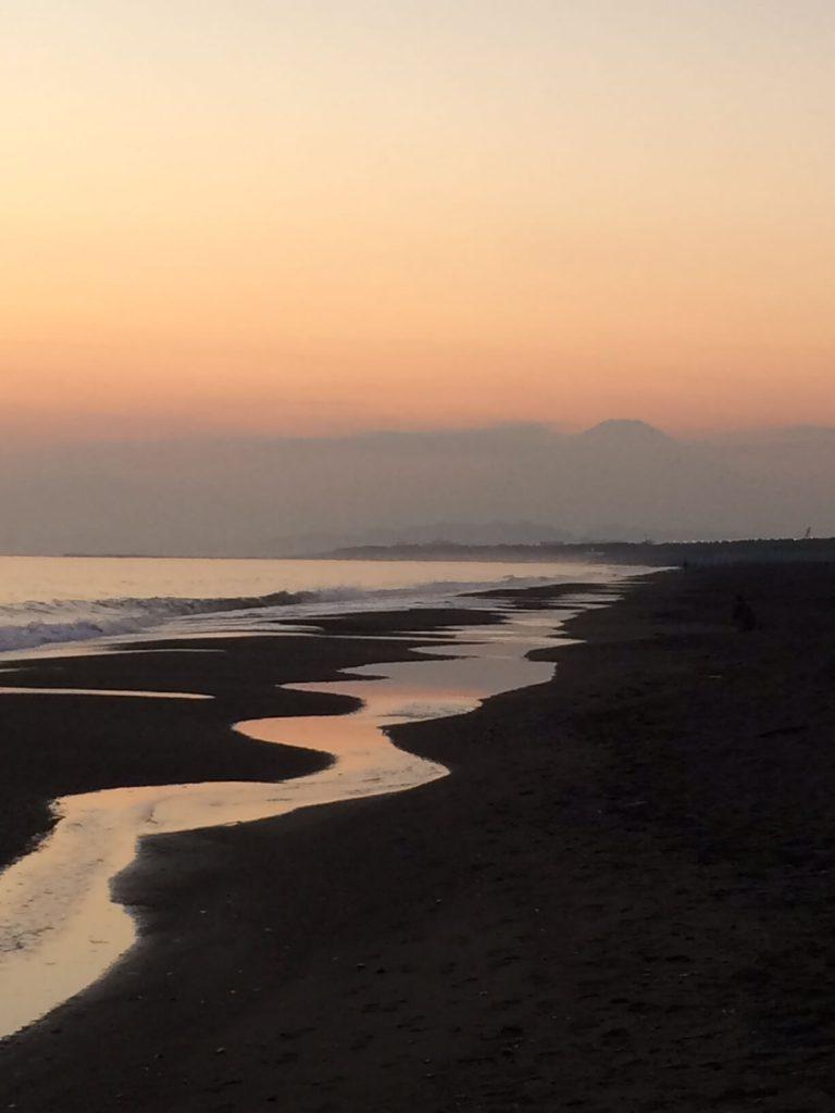 片瀬江ノ島海岸の夕焼け