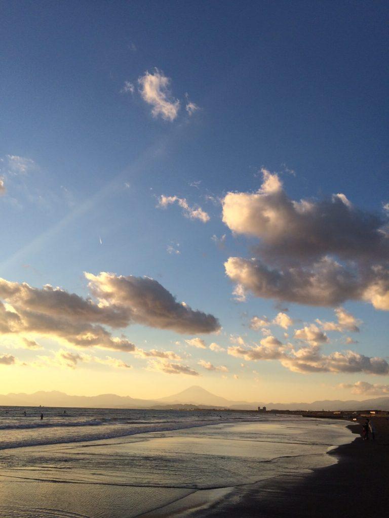 片瀬江ノ島の夕陽