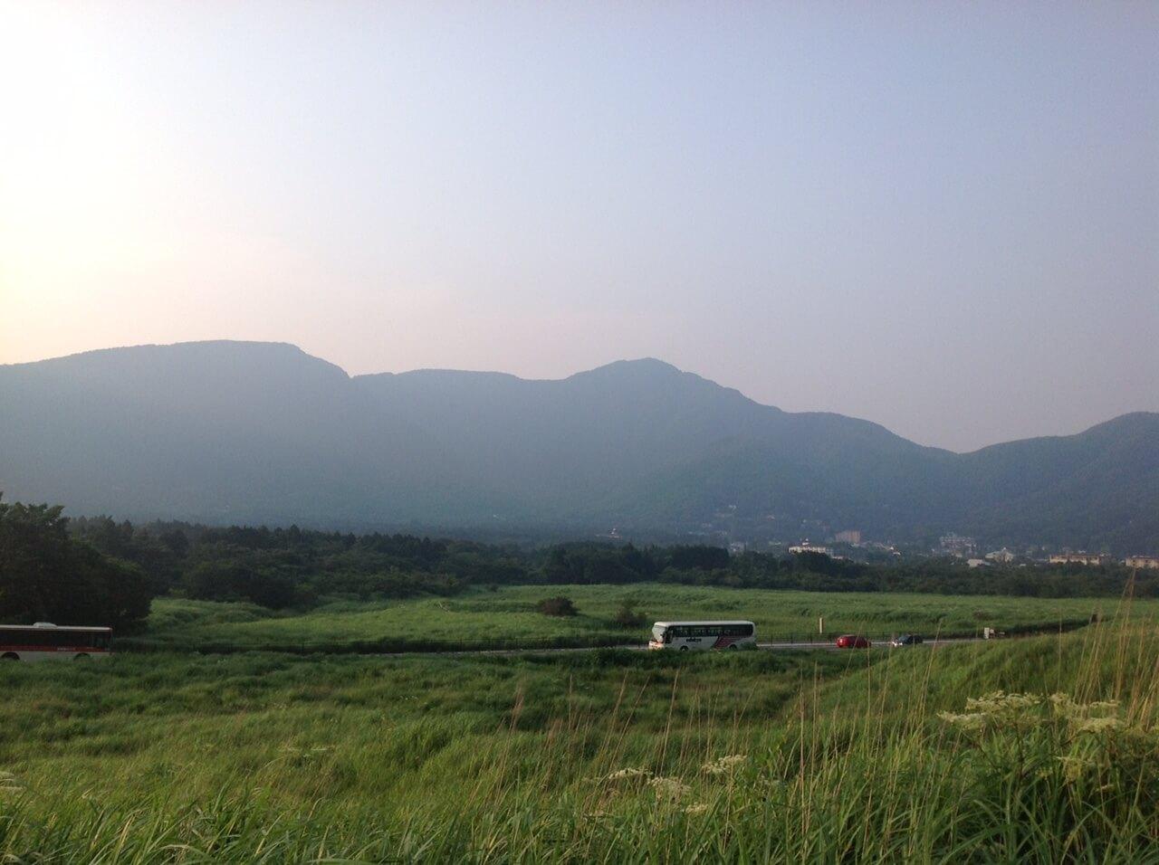 箱根の高級旅館が多い仙石原の風景