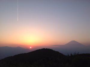 長尾峠から見る富士山