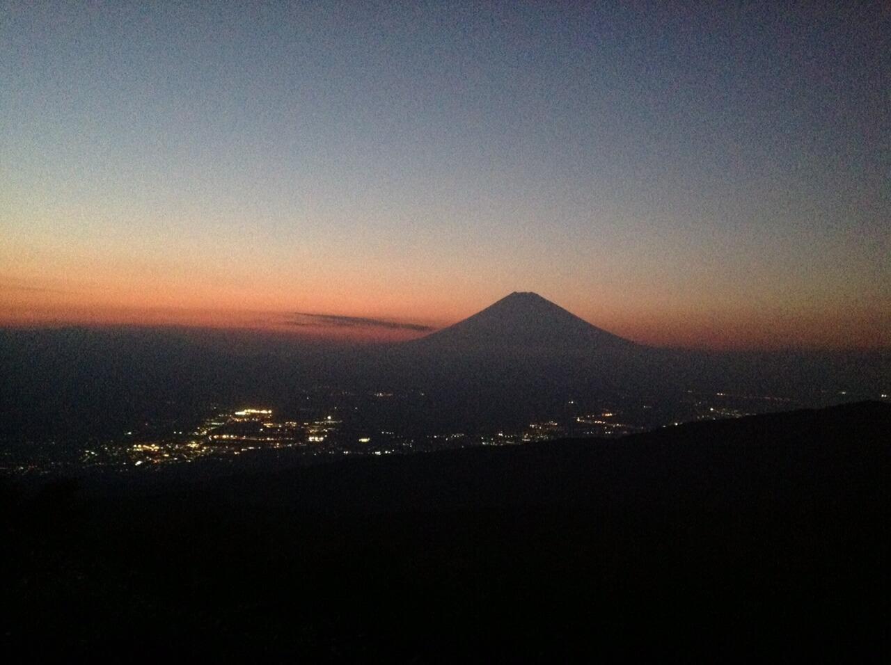 芦ノ湖スカイライン三国峠からの富士山