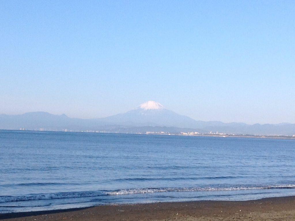 江ノ島から見える富士山
