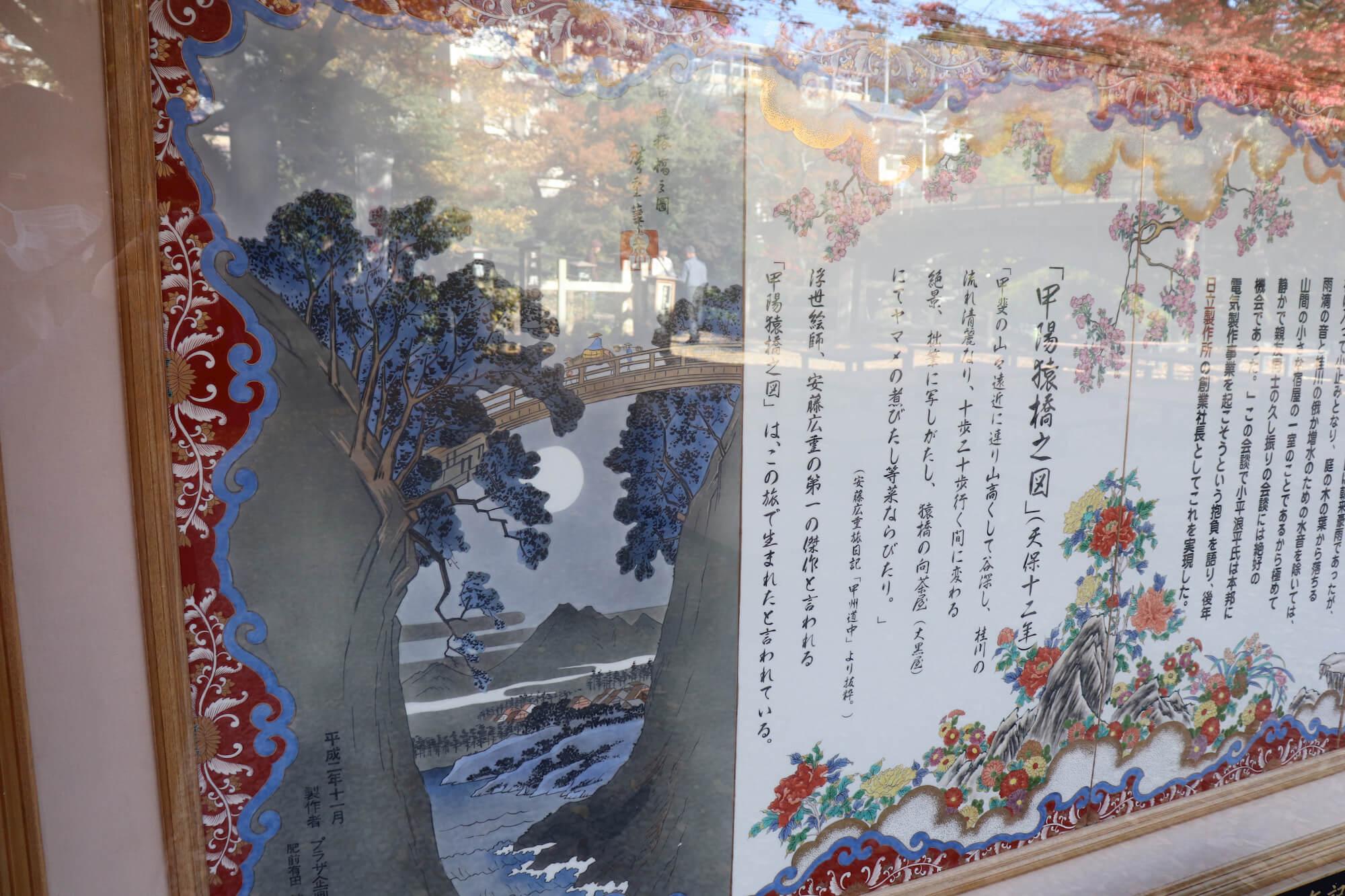 猿橋と歌川広重の絵
