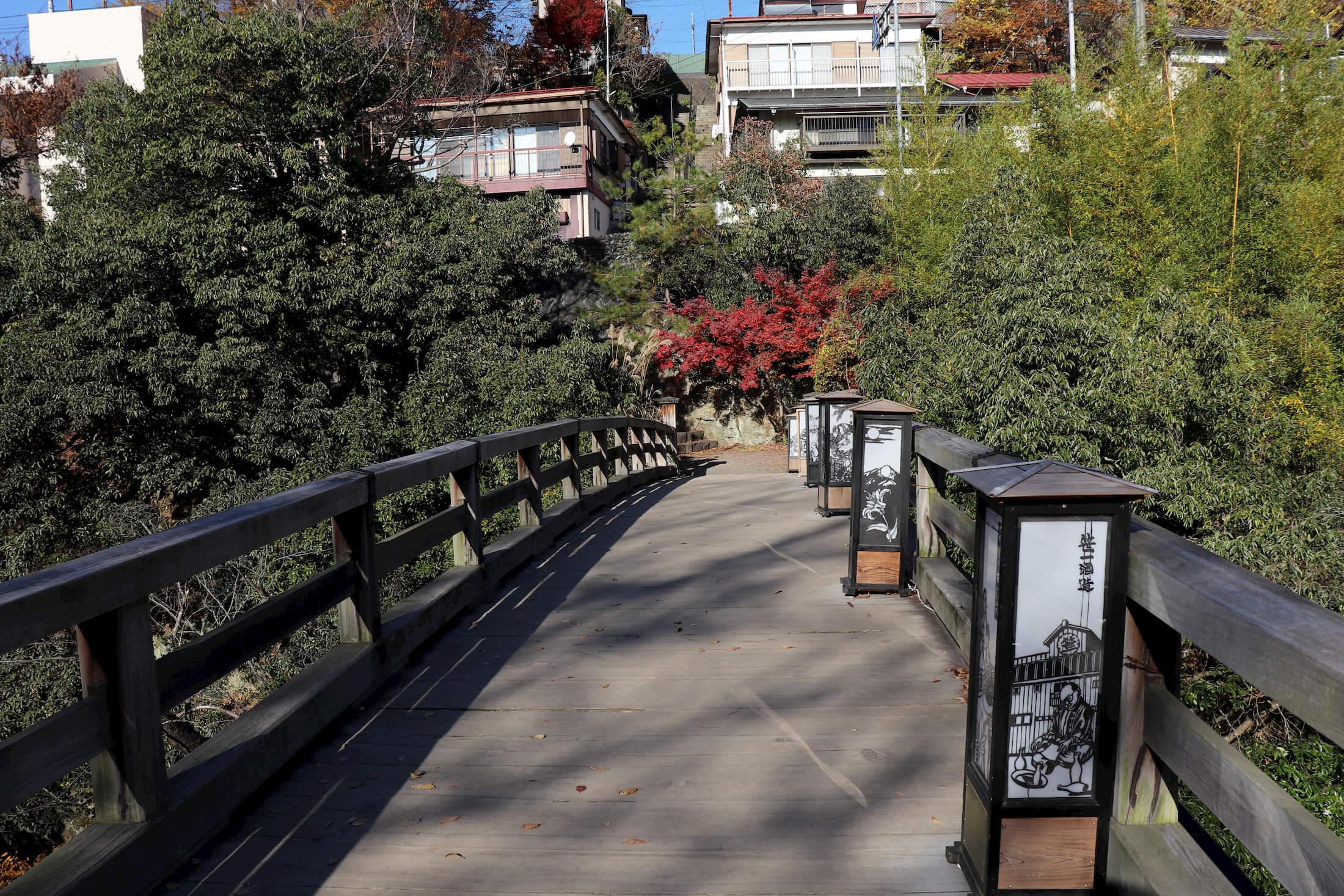 猿橋の橋の上
