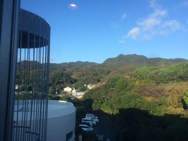 下田プリンスホテルの廊下からの眺め