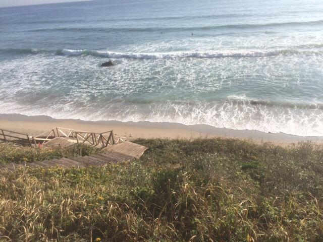 下田プリンスホテルからの白浜中央海水浴場の眺め