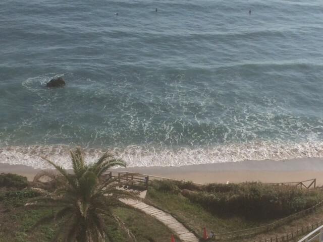 下田プリンスホテルから見える白浜大浜の眺め