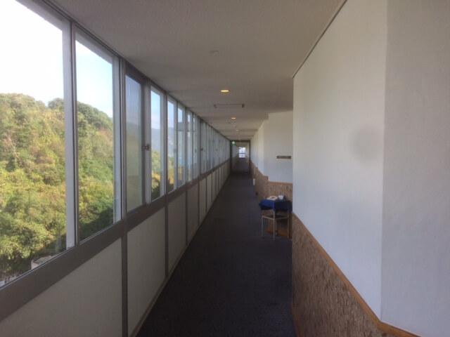 下田プリンスホテルの廊下