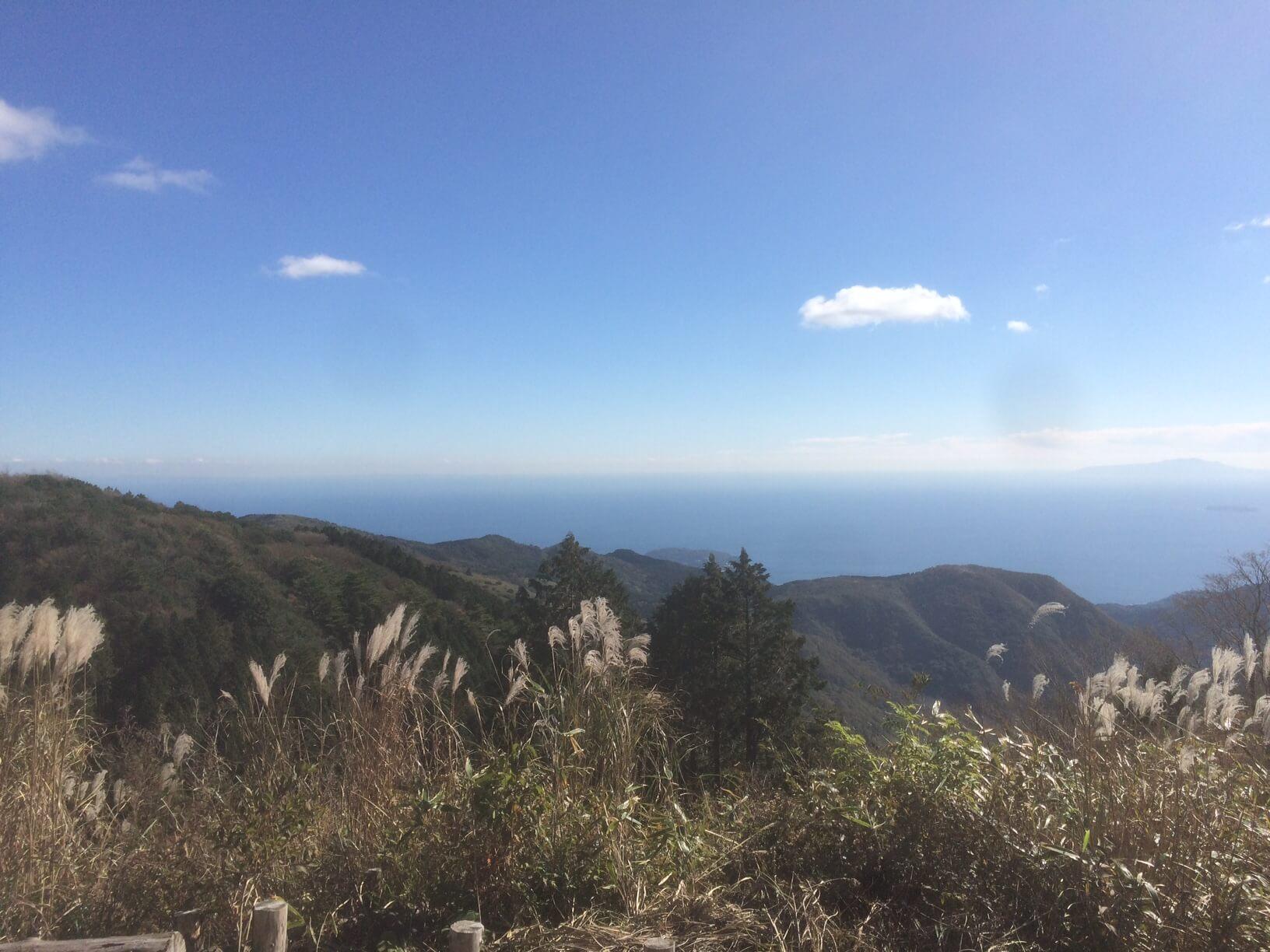 箱根ターンパイク休憩所からの眺め