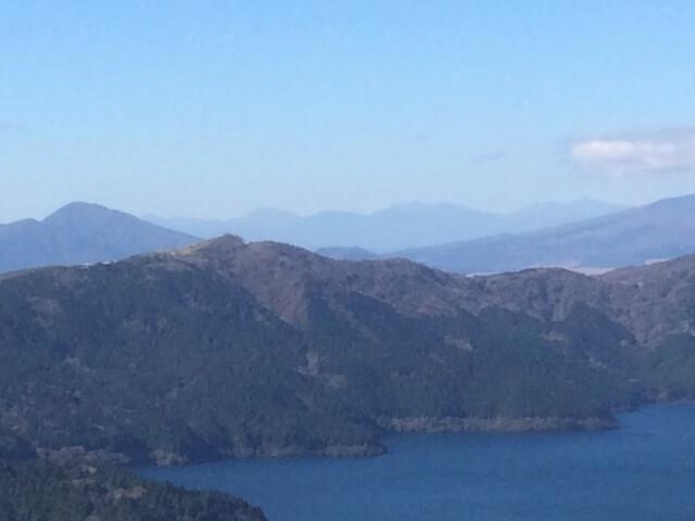 大観山から見える南アルプス