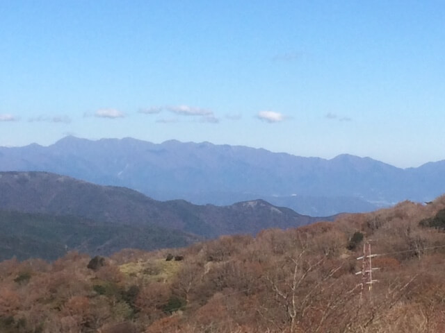 大観山から見える丹沢山