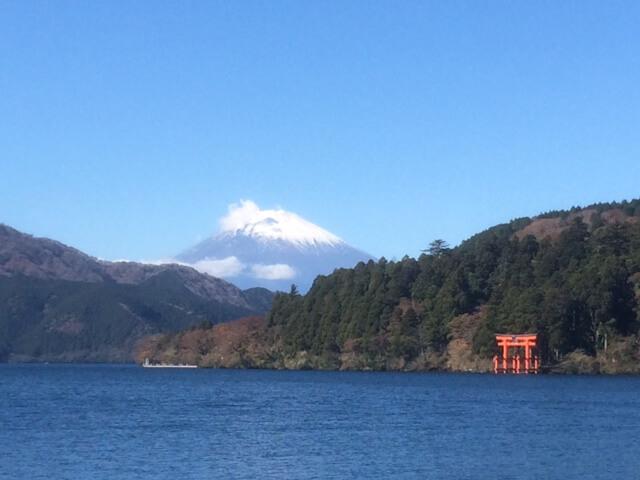 箱根芦ノ湖から見える富士山