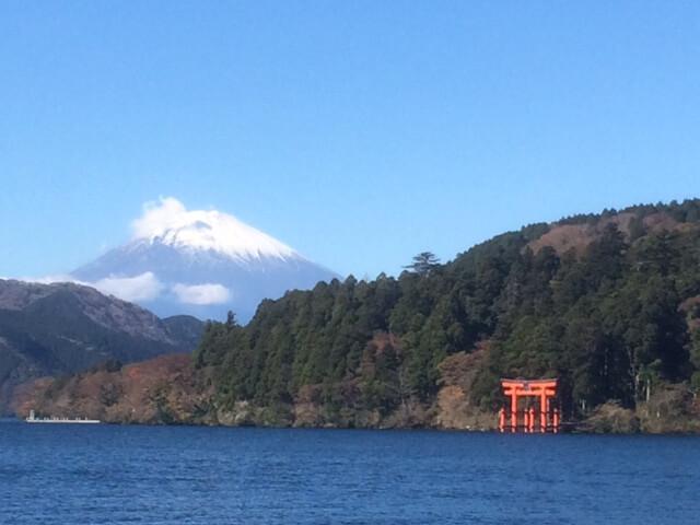 芦ノ湖と箱根神社と富士山