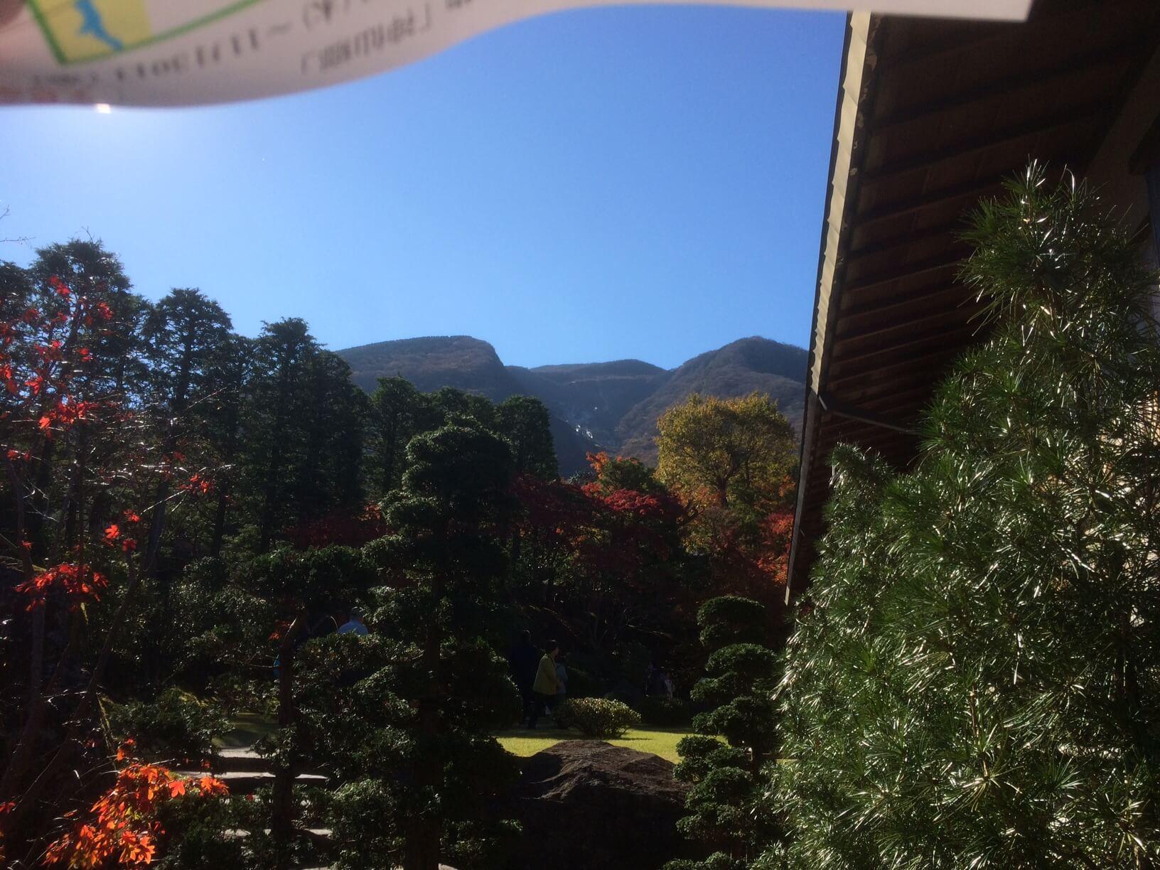 箱根美術館から見える大涌谷